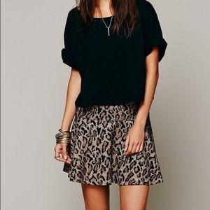 Free People Leopard Print skirt, 8